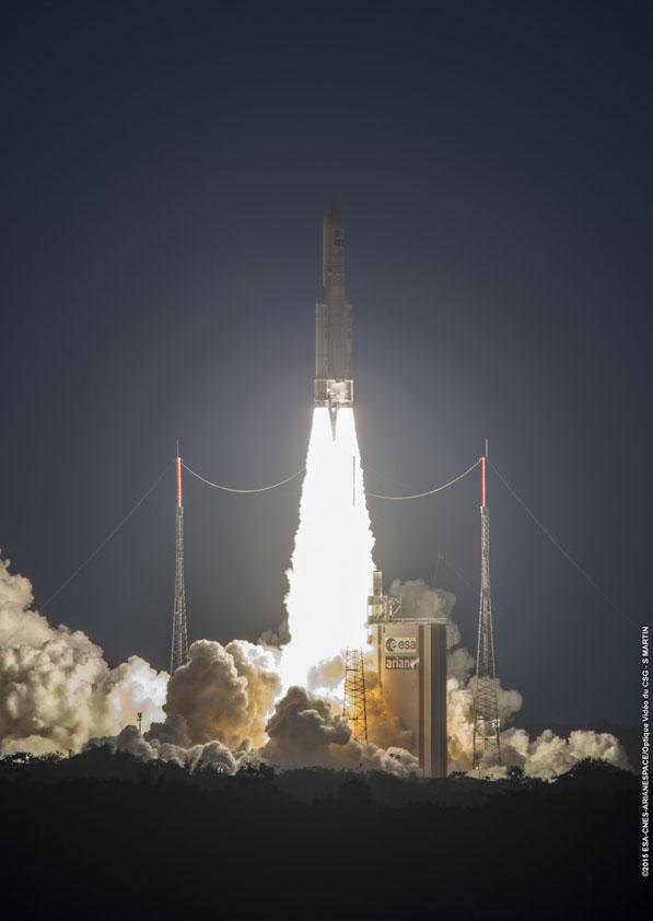 ESA/CNES/Arianespace – Optique Video du CSG – S. Martin