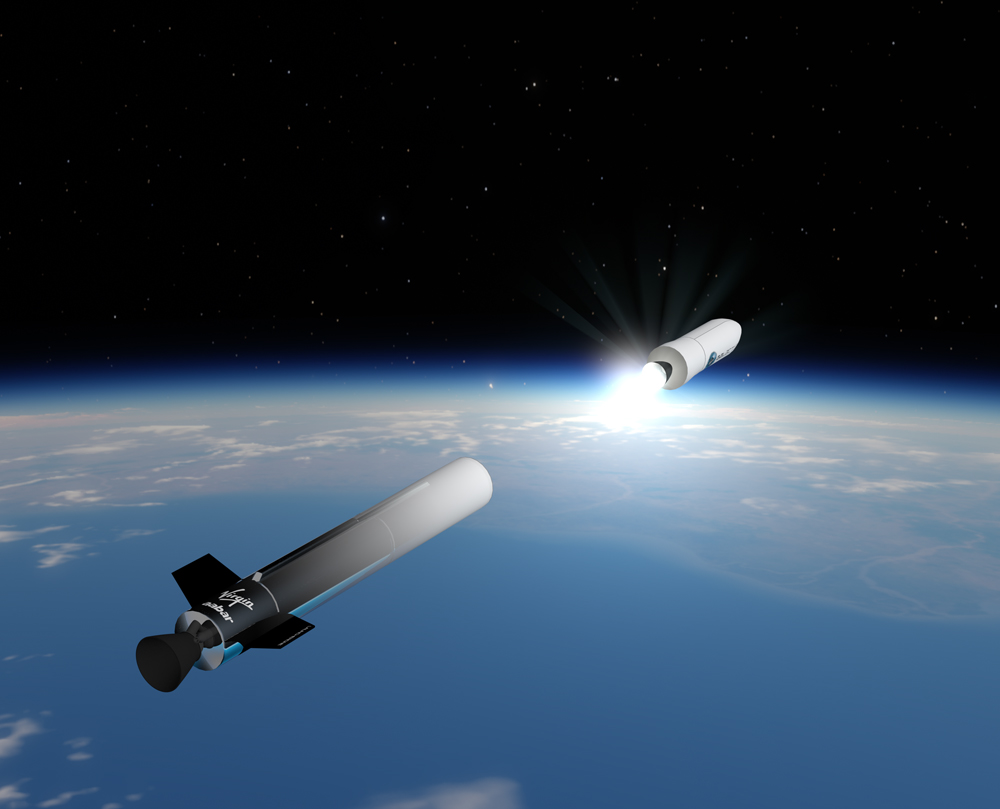 Artist's concept of LauncherOne. Credit: Virgin Galactic