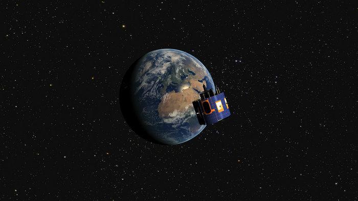 Artist's concept of the MSG 4 satellite. Credit: Eumetsta