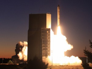 Minotaur IV/TacSat 4 launches Sept. 27, 2011. Photo by Orbital Sciences Corp./William G. Hartenstein