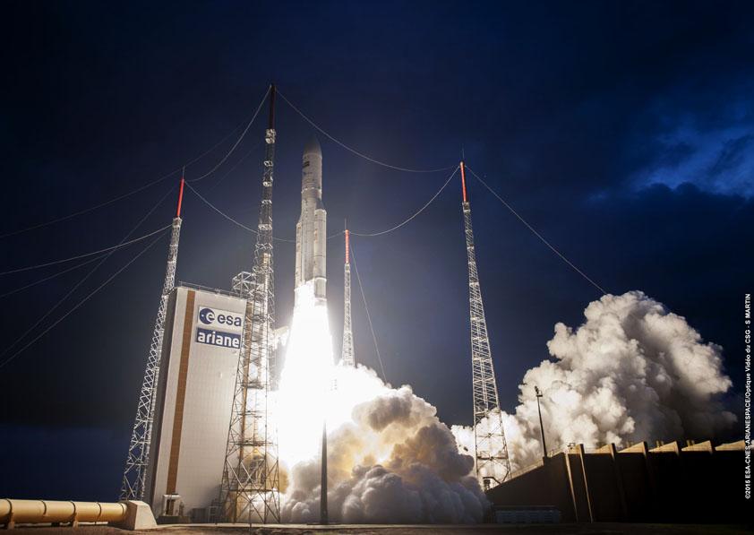 Photo credit: ESA/CNES/Arianespace – Optique Video du CSG – S. Martin