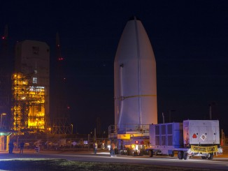 Delta IV WGS-06 Lift & Mate Operation