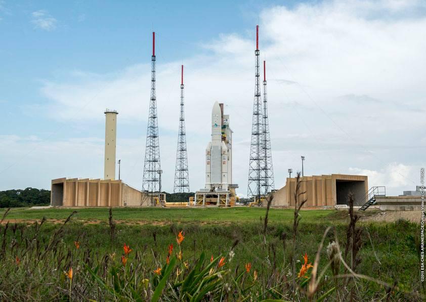 Photo credit: Credit: ESA/CNES/Arianespace – Optique Video du CSG – P. Piron