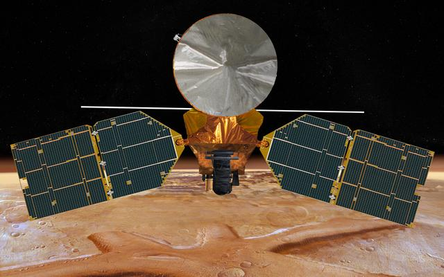 Artist's concept of the Mars Reconnaissance Orbiter. Credit: NASA/JPL-Caltech