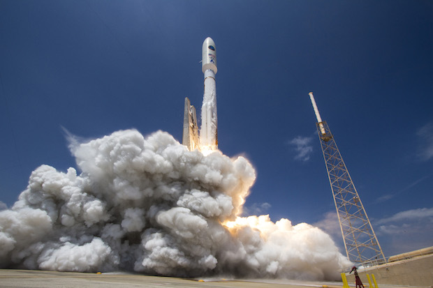 File photo of an Atlas 5 rocket with a 5.4-meter (17.7-foot) fairing made by Ruag Space. Credit: ULA