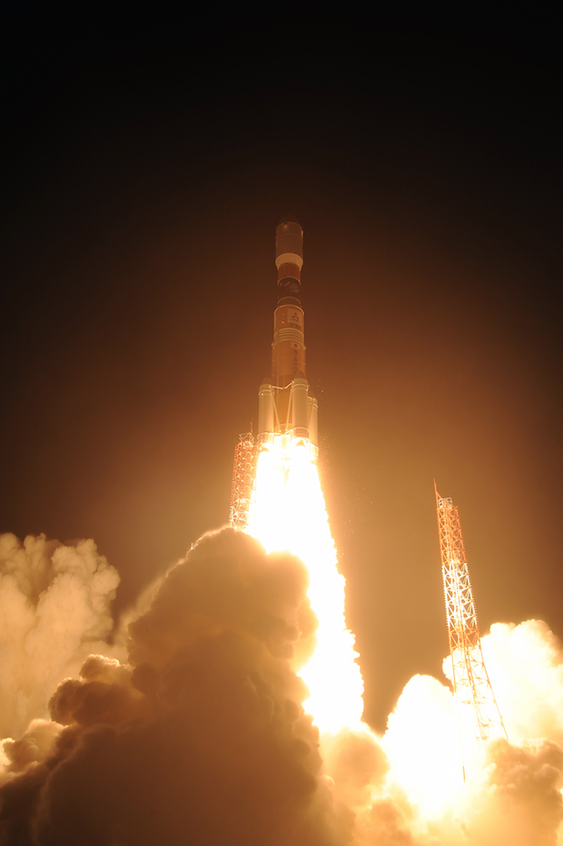 The fifth HTV cargo mission lifted off Aug. 19 aboard an H-2B rocket from Tanegashima Space Center, Japan. Credit: JAXA