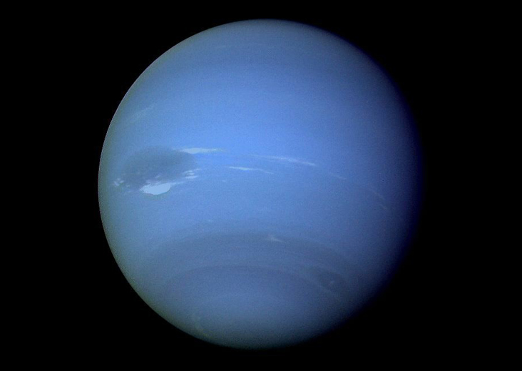 NASA's Voyager 2 spacecraft encountered Neptune in August 1989. Credit: NASA