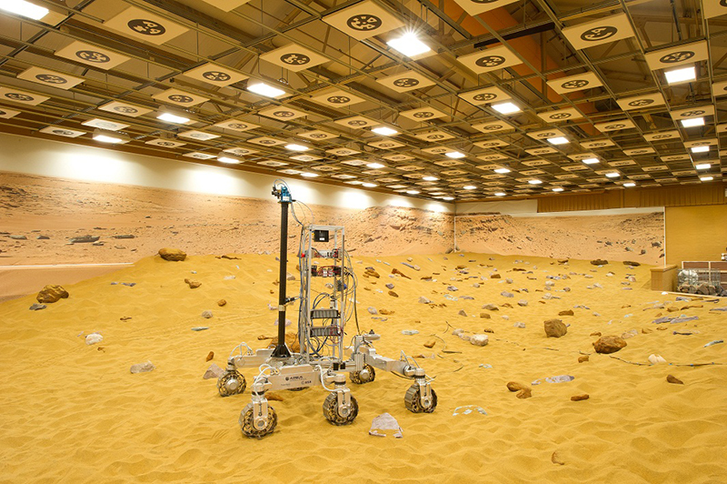 The ExoMars 2018 rover will be assembled by Airbus Defense and Space at its facility in Stevenage, UK. Credit: Airbus Defense and Space
