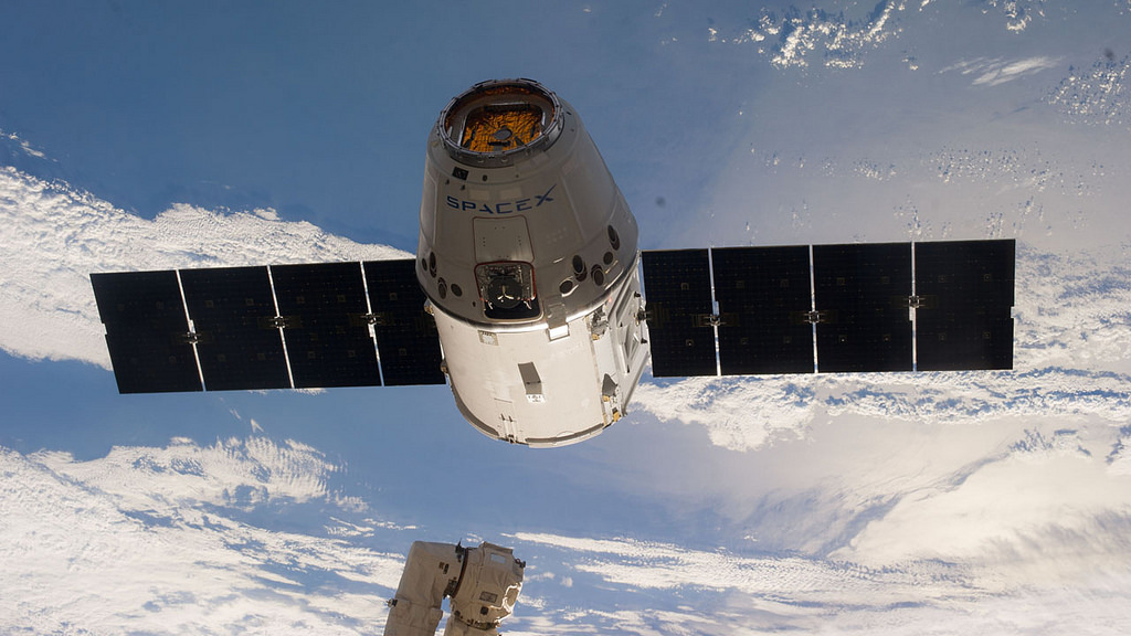 File photo of SpaceX's commercial Dragon supply ship approaching the International Space Station. Credit: NASA