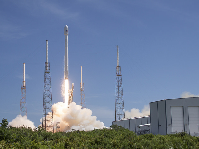 File photo of SpaceX's Falcon 9 rocket lifting off from Cape Canaveral. Credit: SpaceX