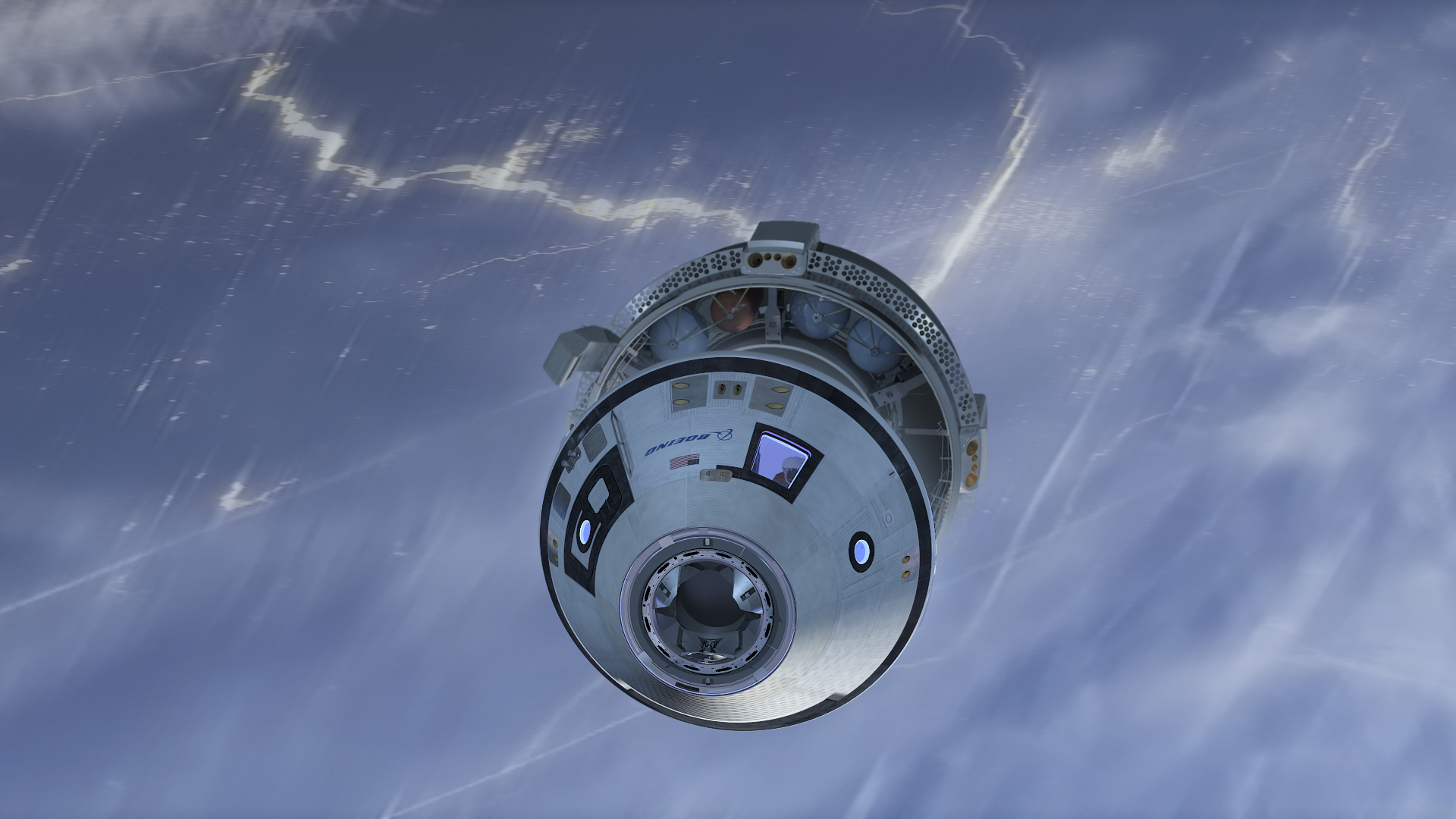 Artist's concept of the CST-100 crew module separating from its service module prior to re-entry. Credit: Boeing