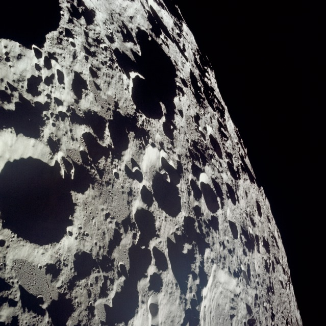 The heavily cratered far side of the moon is seen in this image from the Apollo 11 mission. Credit: NASA