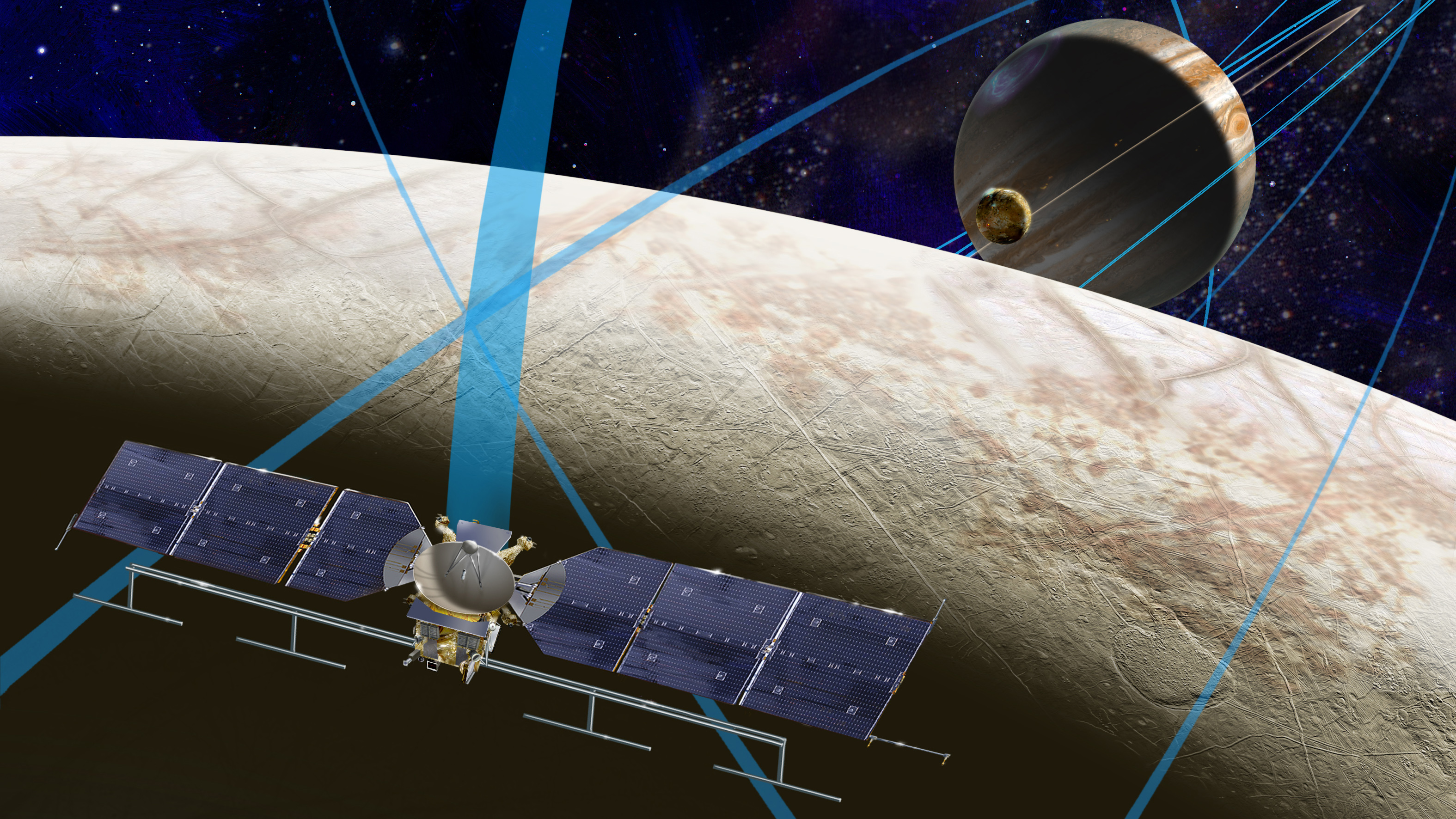 Artist's concept of the Europa Clipper spacecraft NASA plans to send to Jupiter in the 2020s. Credit: NASA/JPL-Caltech