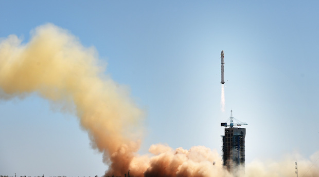 A Long March 2D rocket launched Monday with the Gaofen 9 remote sensing satellite. Credit: Xinhua