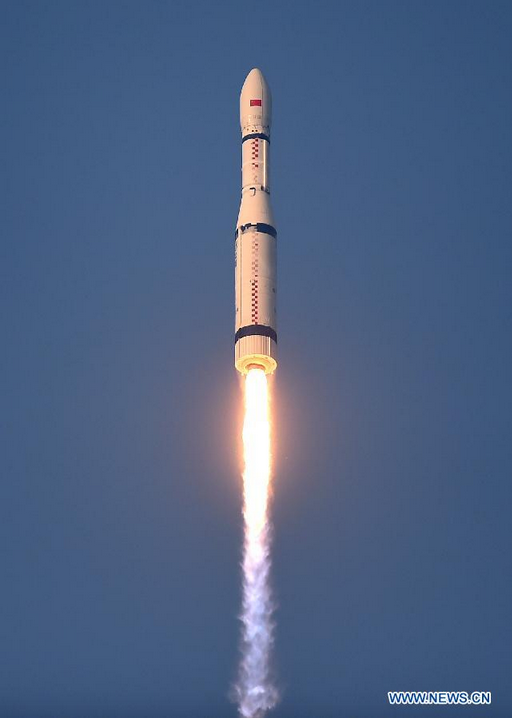 The launch of the Long March 6 rocket occurred at 7:01 a.m. Beijing time Sunday. Credit: Xinhua