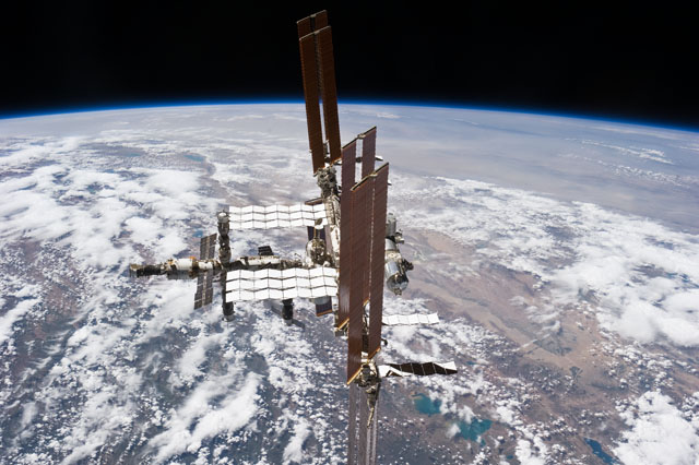 Astronauts aboard the space shuttle Atlantis captured this image of the International Space Station after departure in July 2011 on the final shuttle flight. Credit: NASA