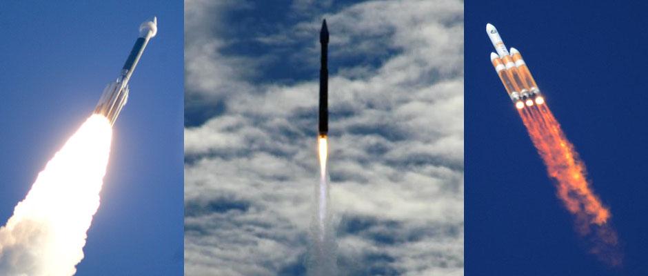 Delta 2, Atlas 5, Delta 4-Heavy. Credit: ULA, Justin Ray, Gene Blevins