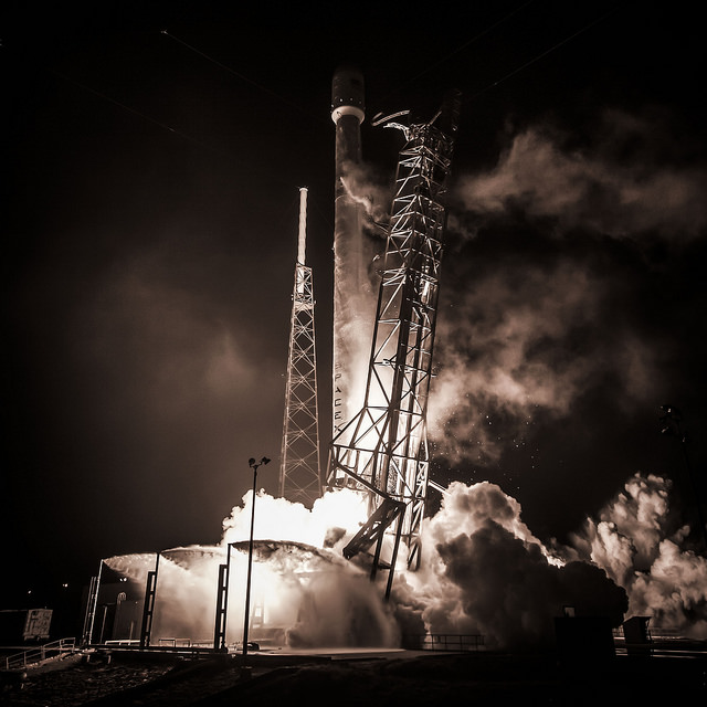 File photo of a Falcon 9 rocket. Credit: SpaceX