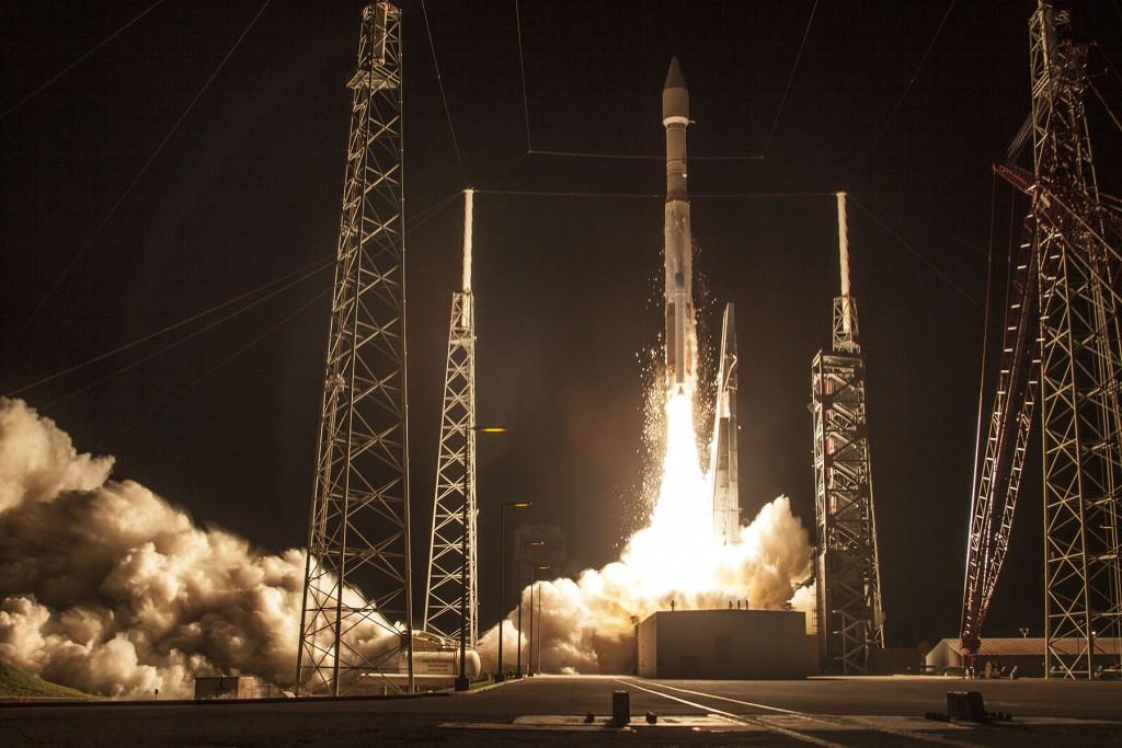 Morelos 3 launch photo. Credit: ULA