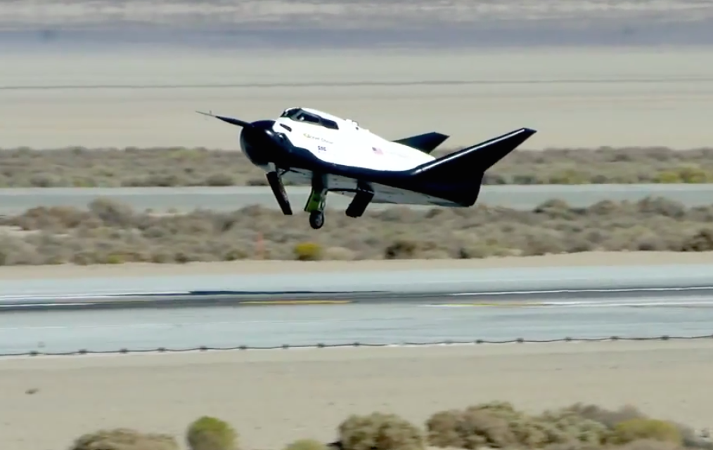 The Dream Chaser's last flight test in October 2013 ended with a crash landing when one of the ship's main landing gears did not deploy. Sierra Nevada says the craft's guidance and control systems functioned as designed during the test. Credit: Sierra Nevada