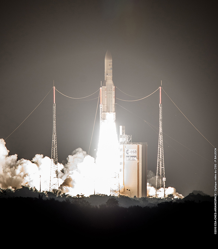 Credit: ESA/CNES/Arianespace – Optique Video du CSG – P. Baudon
