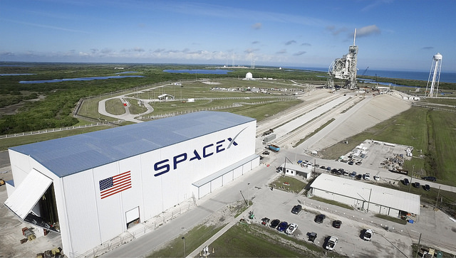 A recent aerial view of SpaceX's launch pad 39A at the Kennedy Space Center in Florida. Credit: SpaceX