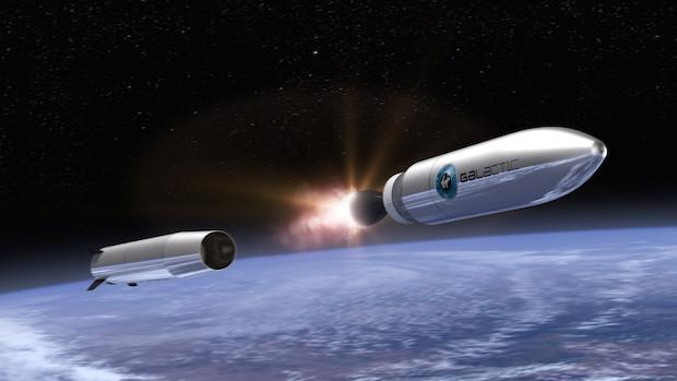 Artist's concept of LauncherOne. Credit: Virgin Galactic