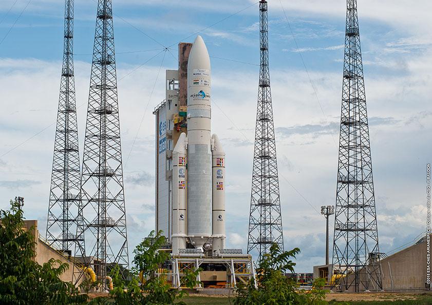 Photo credit: ESA/CNES/Arianespace – Optique Video du CSG – P. Baudon
