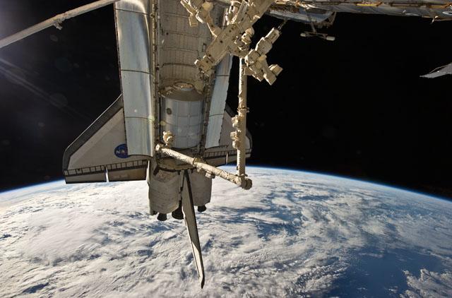 An MPLM aboard the shuttle. Credit: NASA