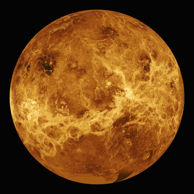NASA's Magellan mission mapped Venus in radar imagery, revealing the planet's global surface topography for the first time. Credit: NASA/JPL-Caltech