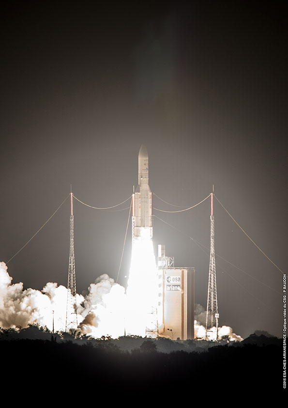 Photo credit: ESA/CNES/Arianespace – Optique Video du CSG – P. Baudon