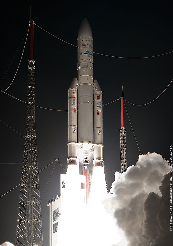 Photo credit: ESA/CNES/Arianespace – Optique Video du CSG