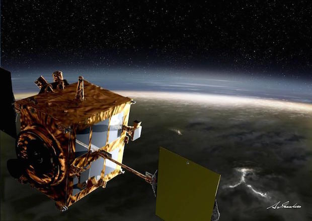 Artist's concept of Japan's Akatsuki spacecraft at Venus. Credit: JAXA/Akihiro Ikeshita