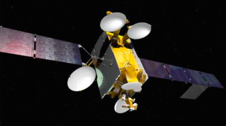 Artist's concept of the Arabsat 6B satellite. Credit: Airbus Defense and Space