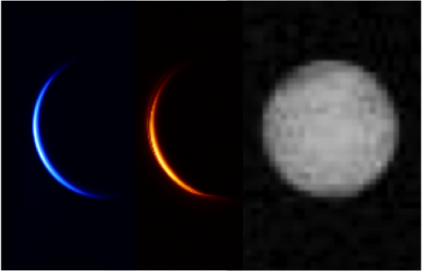 Akatsuki captured these views of Venus in three wavelengths two days after the mission's failed orbit insertion attempt 2010. Scientists plan to turn the probe's cameras toward Venus immediately after the Dec. 7 arrival maneuver to record much closer views in case the burn fails. Credit: JAXA/ISAS