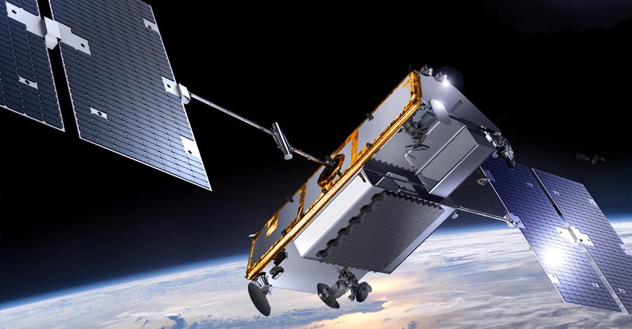 Artist's concept of an Iridium Next satellite. Credit: Thales Alenia Space