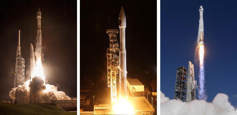 Morelos 3, NROL-55, GPS 2F-11. Photos by ULA