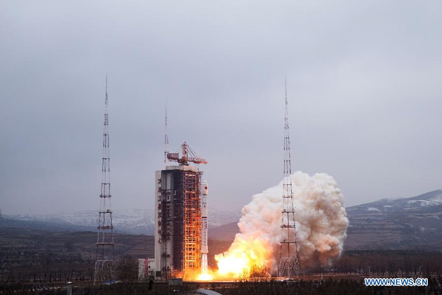 A Chinese Long March 4B rocket launched with the Yaogan 28 satellite at 0706 GMT (2:06 a.m. EST; 3:06 p.m. Beijing time) Sunday. Credit: Xinhua