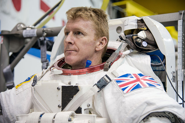 Tim Peake undergoes spacewalk training last year at the Johnson Space Center in Houston. Credit: NASA/Robert Markowitz