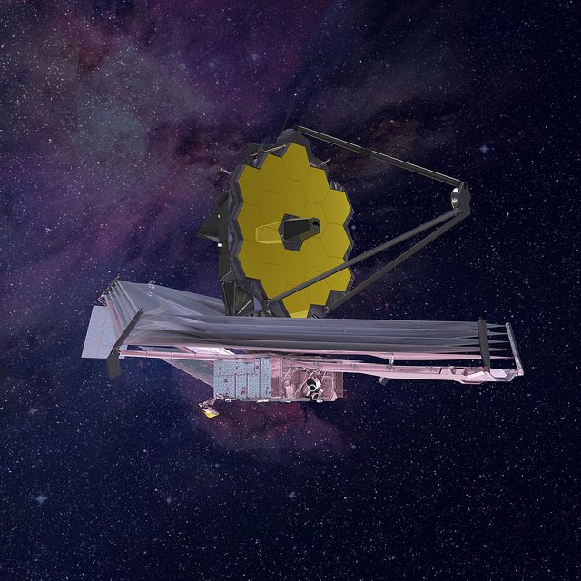 Artist's concept of the James Webb Space Telescope fully deployed. Credit: Northrop Grumman