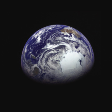 Hayabusa 2's optical navigation camera took this picture of Earth after its flyby, showing a color view of Antarctica and Australia. Credit: JAXA