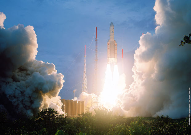 File photo of an Ariane 5 ECA launch. Credit: ESA/CNES/Arianespace – Photo Optique Video du CSG