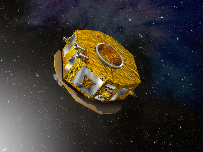Artist's concept of the LISA Pathfinder science module. Credit: ESA