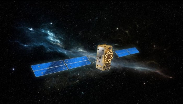 Artist's concept of a Galileo navigation satellite in orbit. Credit: OHB