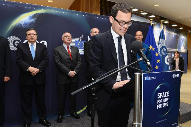 File photo of Stephane Israel, Arianespace's chairman and CEO. Credit: European Commission