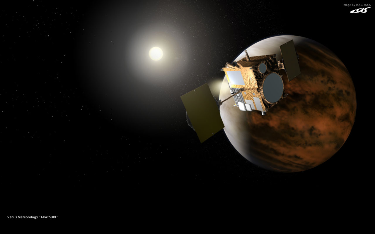 Artist's concept of the Akatsuki spacecraft.