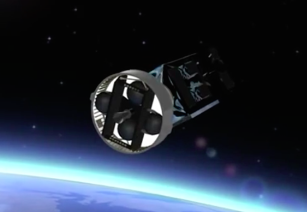 The AVUM engine shuts down after reaching an elliptical orbit with a high point of 957 miles (1,540 kilometers), a low point of 128 miles (207 kilometers), and an inclination of 5.96 degrees.