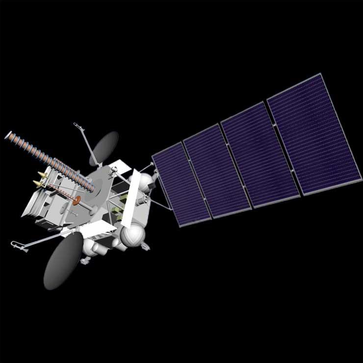 Artist's concept of the Elektro-L 2 satellite. Credit: NPO Lavochkin