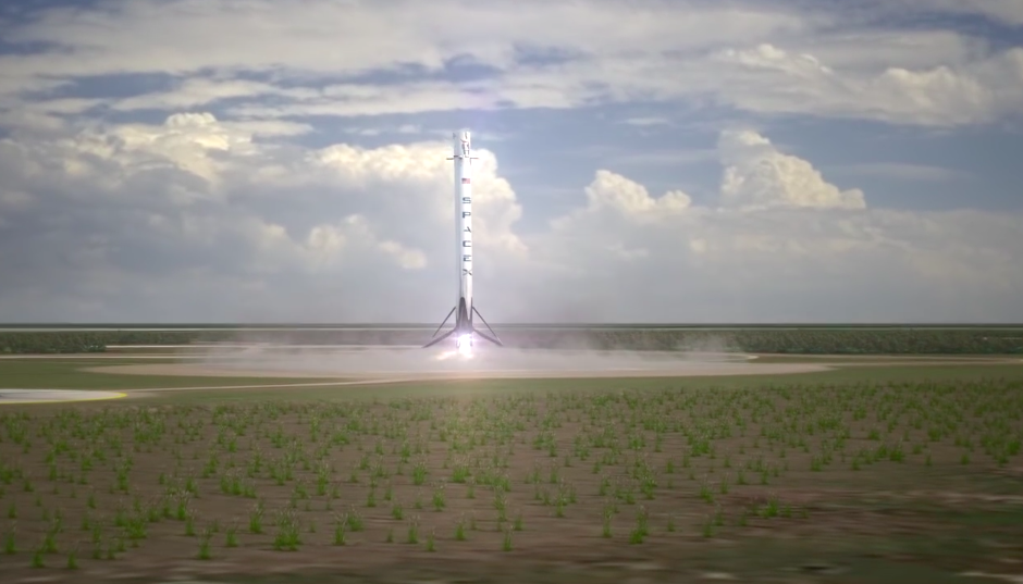 A final landing burn with one of the first stage's Merlin engines guides the 156-foot-tall booster to a touchdown at Landing Zone 1, about 6 miles south of the Falcon 9's launch pad at Cape Canaveral.