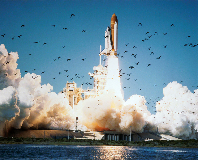 The shuttle Challenger soars away from launch pad 39B at NASA's Kennedy Space Center on Jan. 28, 1986. Credit: NASA